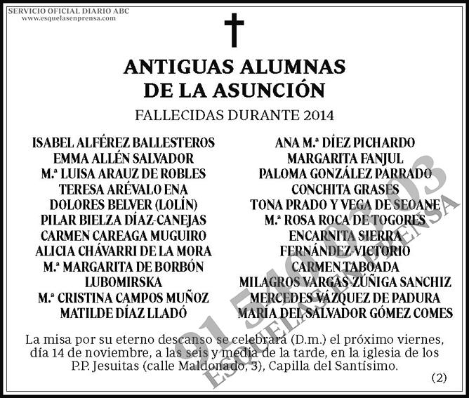 Antiguas Alumnas de la Asunción